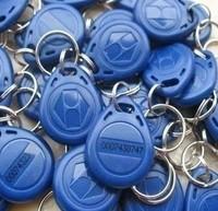 Free shipping RFID Proximity ID Token Tag Key Ring 125Khz Bule 500pcs/lot