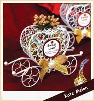 6 PCS Fairy Tale Golden Theme Metal Candy Gift Chocolate Favor Box With Heart Design 12cm*8cm*3.5cm