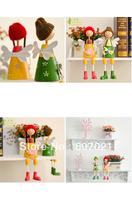 European rural draw sheet dolls cute new marriage room gift gift car furnishing articles lovers DiaoJiao doll