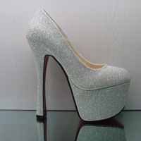 2013 new arrival spring women sexy high heel pumps fashion platform wedding party shoes , free shipping