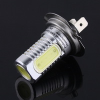 1pair 12V H7 6W Super Bright Car LED Front Headlights High Power Light Fog Bulb Lights Lamp White