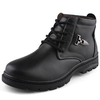 Spot sales Camel cotton-padded shoes male thermal trend boots wool plus size male cotton-padded shoes 47 genuine leather