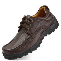 Camel shoes first layer of cowhide soft sole shoes men's casual leather trend plus size shoes  shoes