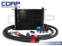 15 ROW Oil Cooler For BMW  N54 engine  twin turbo 135i (E82)  335i (E90.E92.E93)   BLACK
