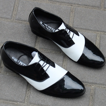 2012 spring and autumn business formal leather pointed toe fashion european version of the men's fashion shoes white black
