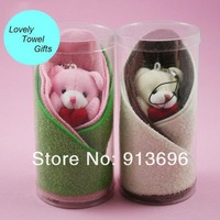 one pair! Lovely toy Cotton towel gift for face/hand, Free shipping