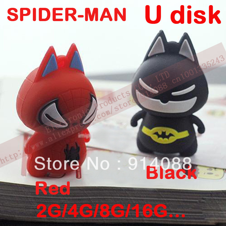 Spider man U disk, USB Flash Drive 4GB 8GB 16GB 32GB USB memory stick 2.0(China (Mainland))