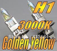 H1 3000K Xenon HID Super Yellow Light Bulb Globe 12V 55W High low Beam Headlight Fog Lamp Excellent Quality! One Year Warranty!!