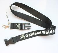 Hot 10pcs Hot 10pcs OAKIAND RAIDER sport Lanyard for MP3/4 cell phone/ key /Neck Strap Lanyard WHOLESALE Free shipping