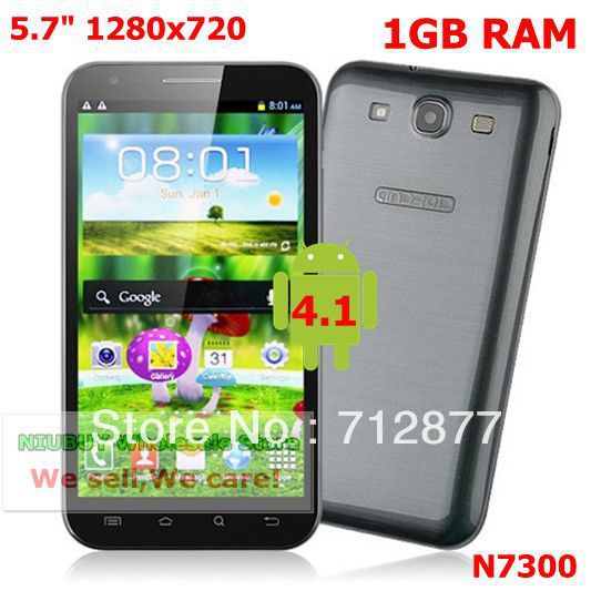 Changjiang N7300 5.7inch IPS HD 1280x720 1GB RAM MTK6577 NOTE II Android 4.1.1 OS(China (Mainland))