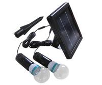 Power Solar Led Light System 2 x Bulb (20 white led each Bulb) In/outdoor lighting solar lamp