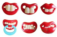 Silicone baby PACIFIERS funny pacifiers JOYFUL Baby front teeth pacifier 1210 B