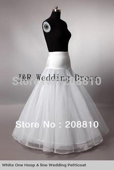 100% gurantee A line 1-HOOP 2-LAYER Свадьба bridal petticoat, underskirt for Свадьба ...