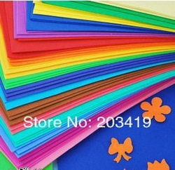 free shipping color 50*50cm sponge foam paper for background fold scrapbook craft Punch stamping up die DIY gift decor card toy(China (Mainland))