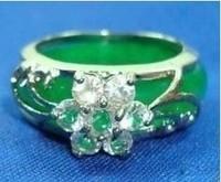 Beautiful Emerald green jade ring