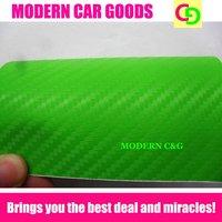 wholesale thickness 0.2mm green carbon fiber vinyl film car car wrap vinyl air free bubbles