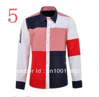 2013 The Latest Style Men's Long Sleeve Shirt Top Design Fashionable Men's Shirt T-Shirt Size M L XL XXL