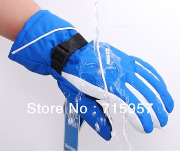 Free Shipping [New Arrival] Male and Female ski gloves windproof waterproof warm Snow Gloves  Many color for choose