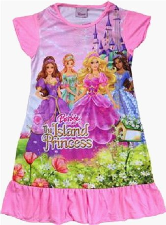 Fashion kid's Pajamas barbie design good quality girl's sleepwear pajamas sleeping robe,Freeshipping(China (Mainland))