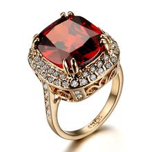 Confidante 6 ruby crystal diamond ring female ka217