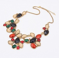 Min order 10 USD Europe&America Exaggerated Geometry jewelry Fashion Wealthy Choker Necklace SPX1784  Multicolor