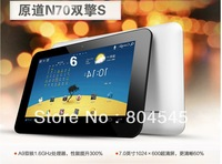 in stock!! Window/yuandao  N70 DUAL CORE 7 inch dual core IPS 1.6GHZ 1GB/16GB RK3066 CPU android 4.0 tablet pc Free shiping