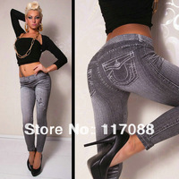 Free Shipping ML7543 New Arrival Pants Legings Strech Jeans Tatoo Graffiti high waisted leather leggings