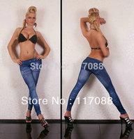 Free Shipping ML7520 Fashion legging Cheap Price Blue Skinny Jeggings pants Jean Like Leggings Sexy knitted legging