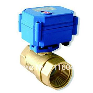 """huis met behulp van elektrische klep dc/ac24v messing 1"""" 3 draden of normaal gesloten draden voor ventilatorconvectoren verwarming waterbehandeling(China (Mainland))"""