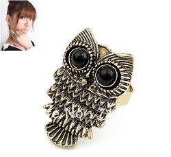 Min order $10(Mix order) Beautiful Owl Ring free shipping(China (Mainland))