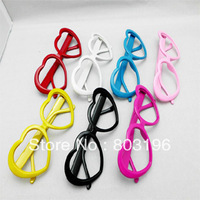 Free Shipping 50PCS Fashion Heart Glasses Frame Eyewear Frame 12 Colors for choice