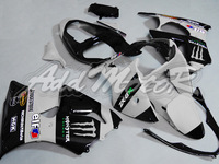 Fairing Kit Fit Kawasaki Ninja 636 ZX6R 00-02 ZX-6R 2000-2002 6R 00 01 02 ZX 6R 2000 2001 2002 Gray Black K6036