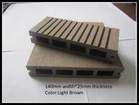Eco-friendly and durable wood plastic composite decking/ wpc decking