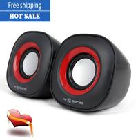 Free shipping New arrival portable subwoofer multimedia mini stereo speaker mini usb2.0 amplifier for laptop MP3MP4 tablet PC