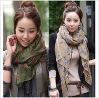 free shipping/2013 Autumn&Spring long chiffon Scarves & Wraps/ fashion zabra print /Wild street style 10pcs/lot