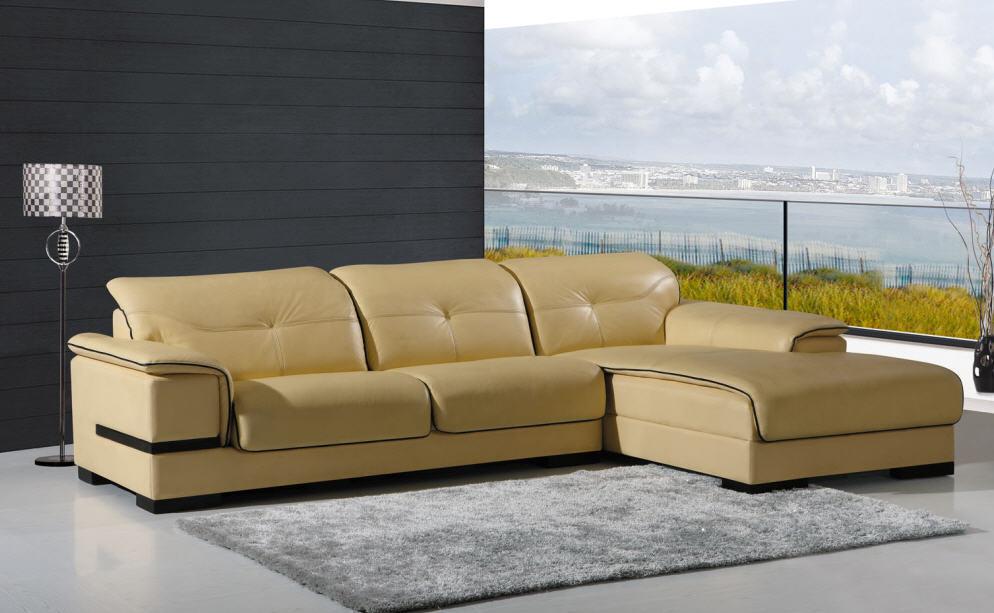 Living Room Corner Leather Sofa