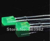 High brightness Pure green diffused led 3.0-3.5V 505-530NM DIP LED 1000PCS