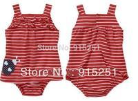hot Original  Girls Dress Romper,carters baby girl strip ladybug  jumpsuit, one piece sunsuit