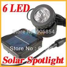 Outdoor 6 LED Solar Powered Spotlight Garden Pool Waterproof Spot Light Lamp(China (Mainland))