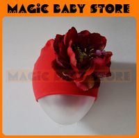 girl hat retail girl  hat with big flower  / Flower Hat Baby gril wear