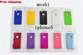 Free shipping New Arrival Candy Color Moshi Hard Plastic Case for iPhone 5 With Wholesale Price