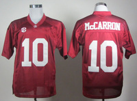 Free shipping NCAA Colleage Football Jersey Alabama Crimson Tide #10 2012 SEC Patch Crimson College Football Jersey