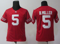 Free shipping  ncaa football jerseys,Ohio State Buckeyes#5 Braxton Miller youth red College Football Jerseys