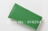 Lady  Brand Fashion purse / Large Y Line Flap Wallet Green ( EMS) free shipping !