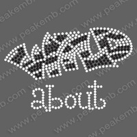 30pcs/Lot Free Shipping Wild about Iron On Custom Rhinestone Transfers Motif  Wholesale Fast Turnaround High Quality Rhinestone