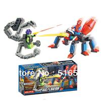 animal blocks/hero,Enlighten Child 87004 educational toys Spider KAZI DIY toys building block sets,children toys free Shipping