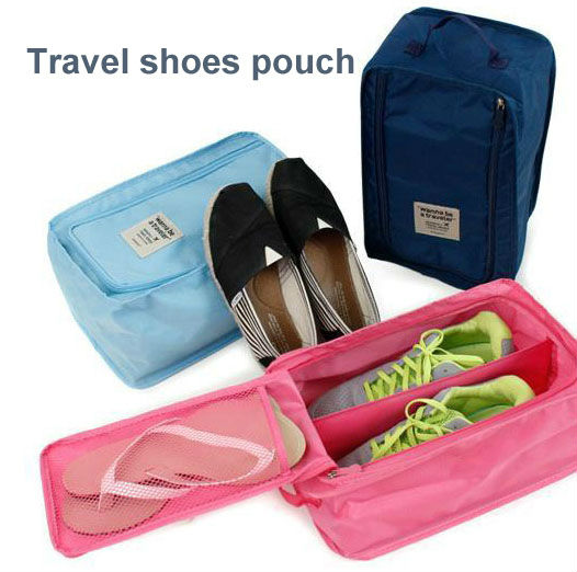 Travel waterproof ventilation Storage organizer shoe bag shoes Pouch free shipping(China (Mainland))