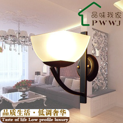 Free shipping fashion iron wall lamp mirror light corridor lights antique wall lamp bed-lighting bronze color(China (Mainland))