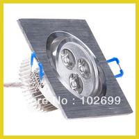 3W 3x1 LEDs square Ceiling Recessed light DownLight Day White spot lamp 85-265V