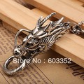 #TGNP004 Titanium men's regal dragon head pendant necklace personalized fashion 316L stainless steel jewelry